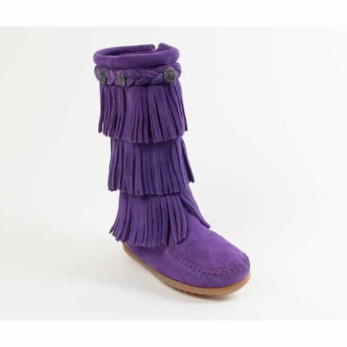 3 layer purple fringe